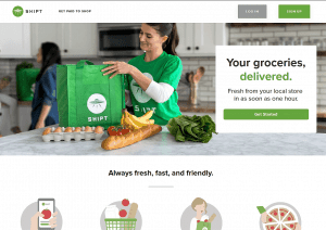 grocery delivery app and website; shipt grocery delivery service