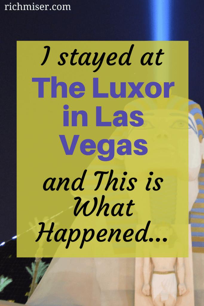 The Luxor Las Vegas Hotel Review