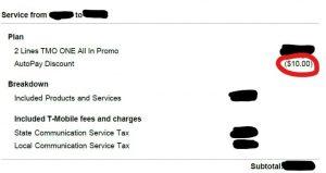 t mobile autopay discount