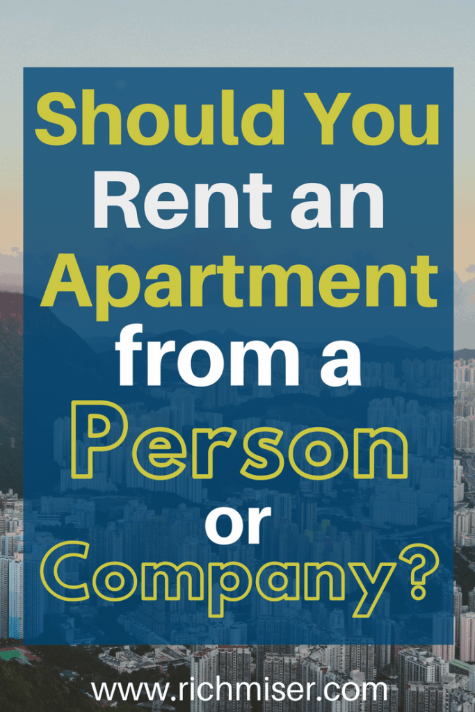 Should You Rent an Apartment From a Person or Company?