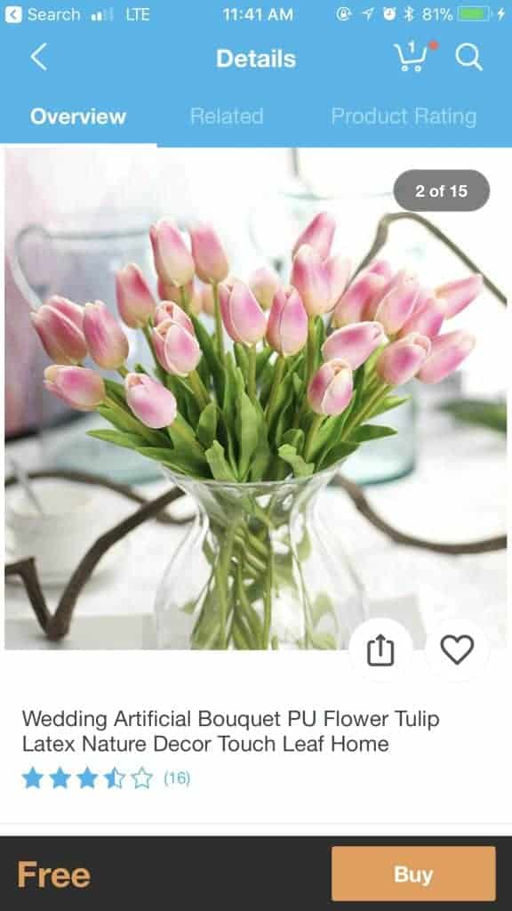 best things to buy on wish - artificial flowers
