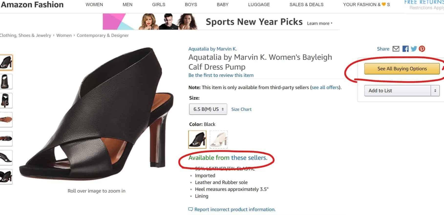 shoes on sale online - open box?