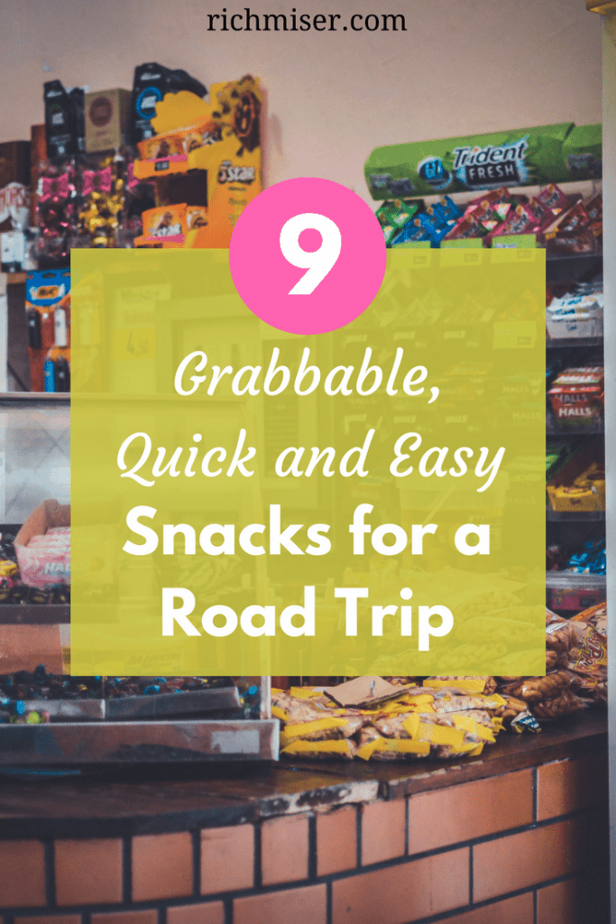 good snacks, easy snacks, and best munchies for when you're on the road