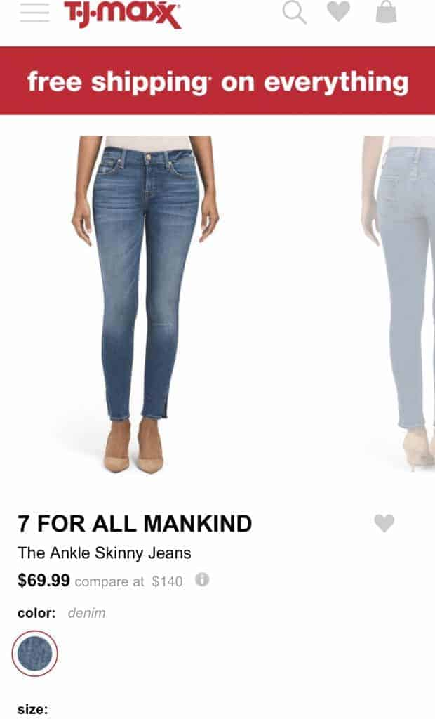 Best place to buy jeans online Tjmaxx