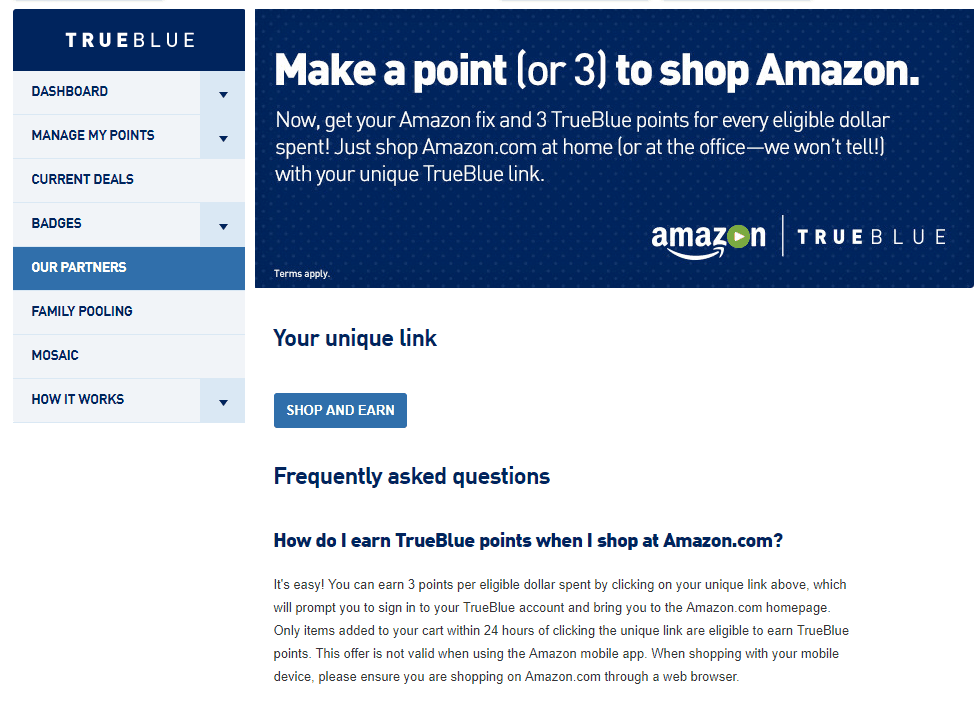 jetblue trueblue points, through the jetblue amazon shopping portal