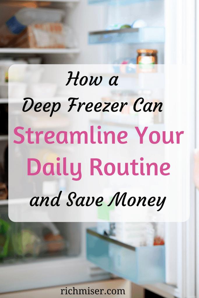 deep freezer, freezer meals, meal planning tips
