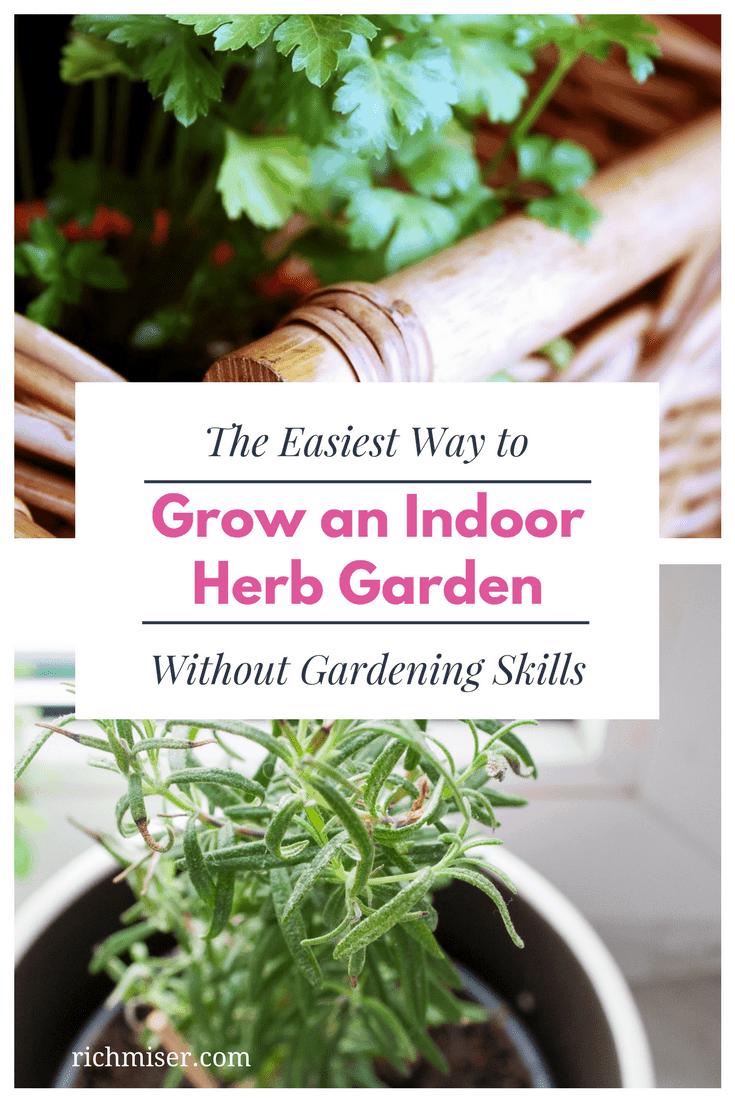 The Easiest Way to Grow an Indoor Herb Garden