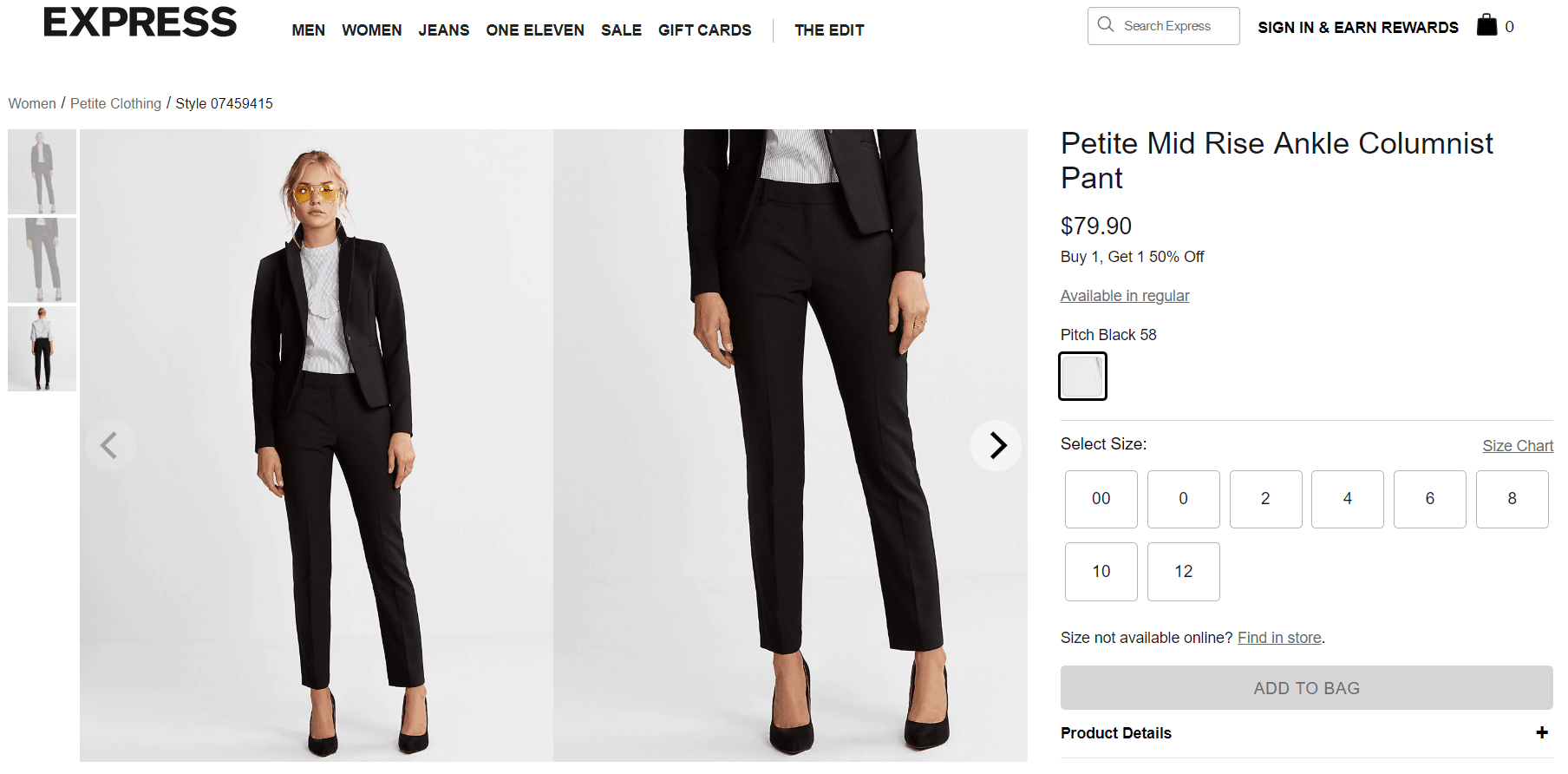 petite work pants