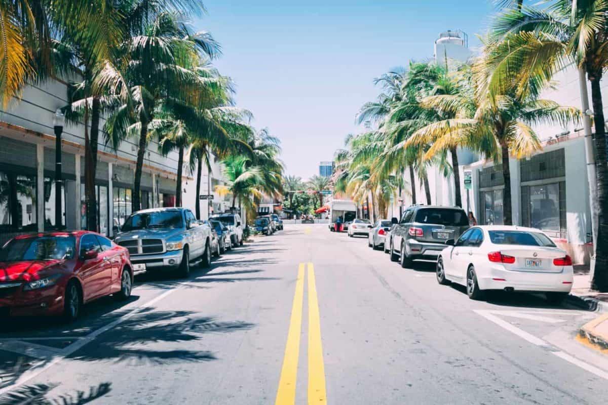 Miami Beach street scene