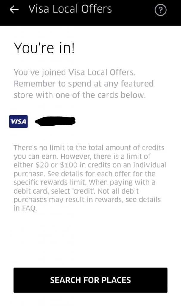 visa local offers sign-up