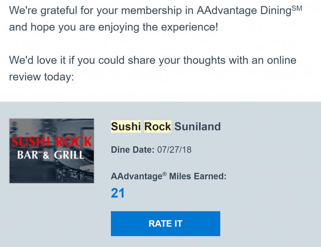 local restaurants and rewards