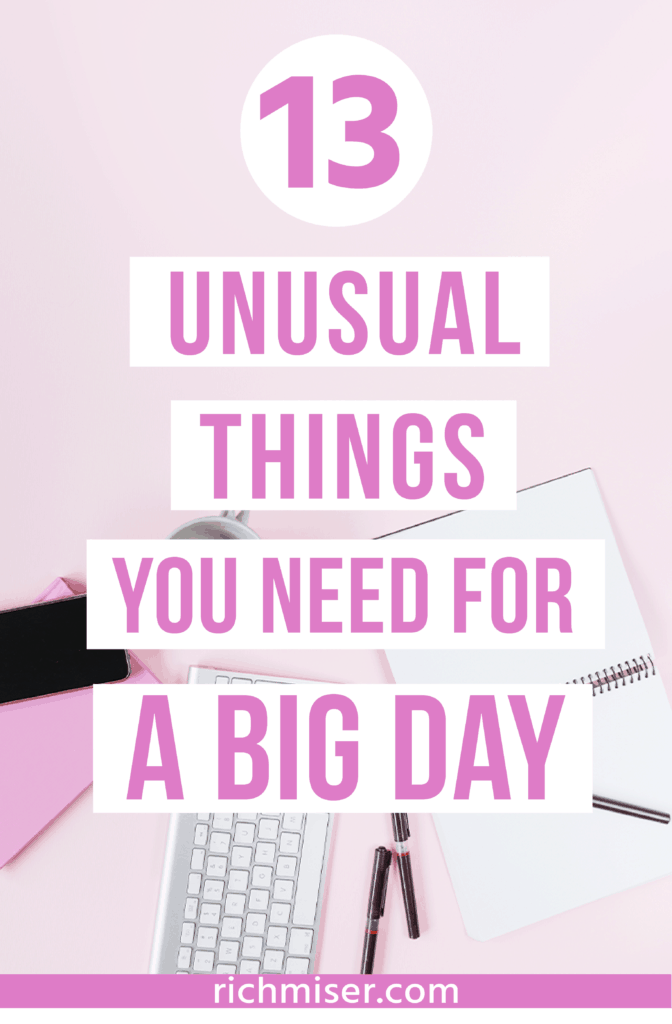 13 Unusual Things You Need for a Big Day