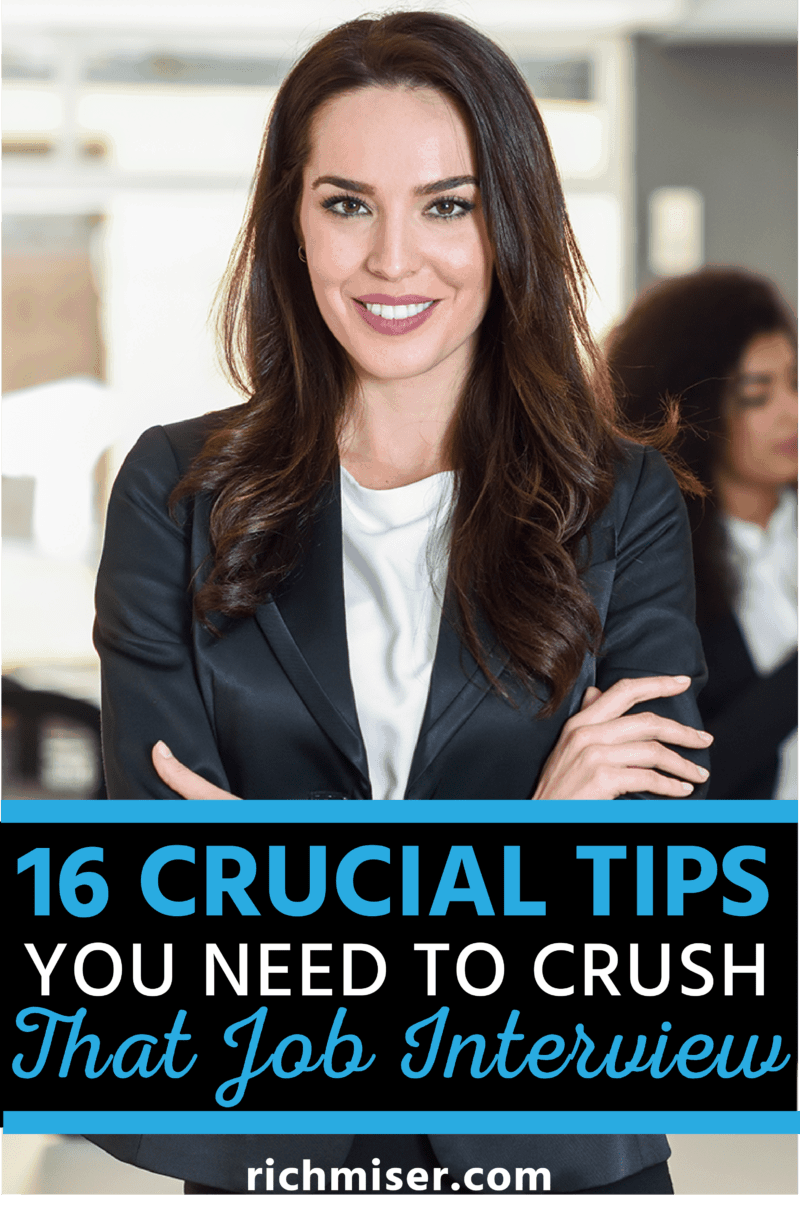 16 Crucial Tips You Need to Crush That Job Interview