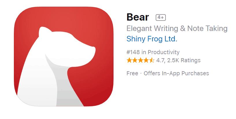 Bear is a great productivity app