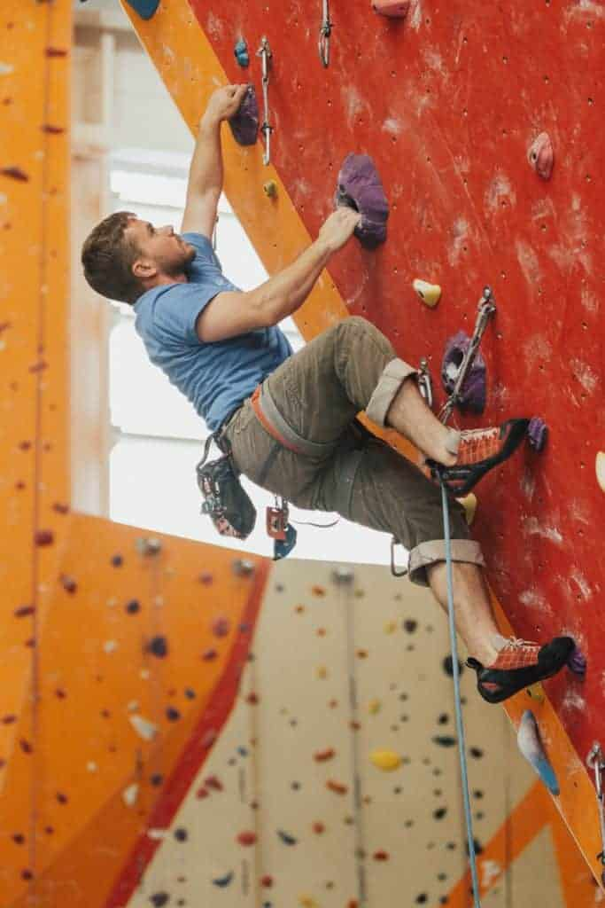 indoor sports - rock climbing