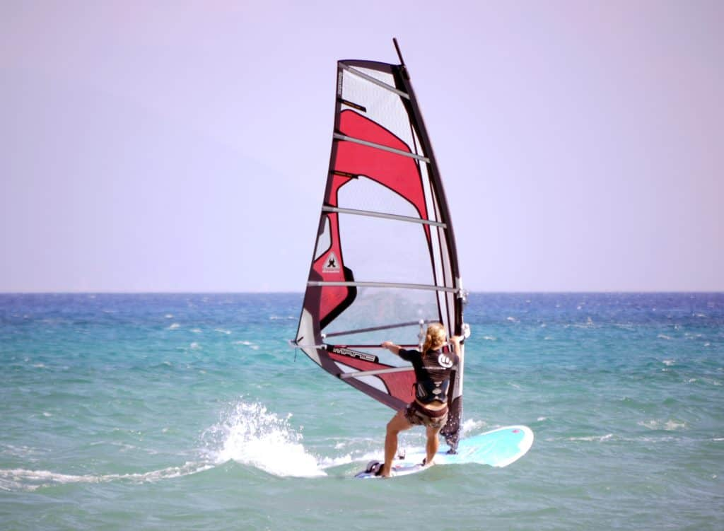 windsurfing - different than wakeboarding or water skiing