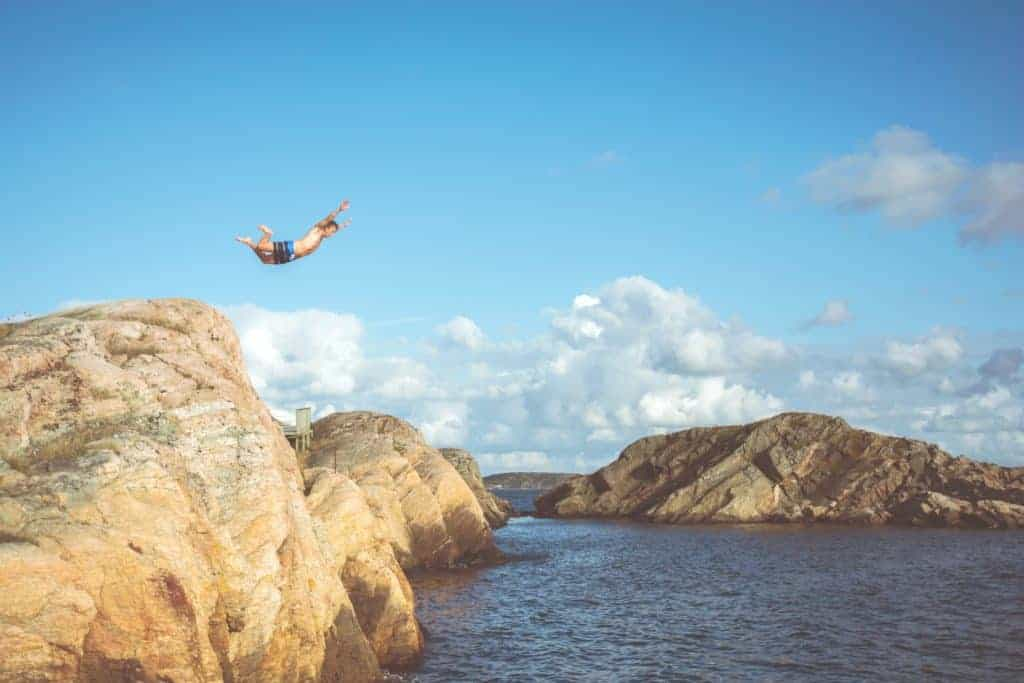 don't want to go wakeboard? go cliff diving!