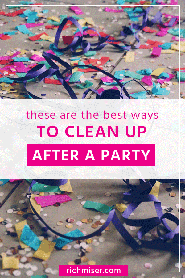 These Are the Best Ways to Clean Up After A Party