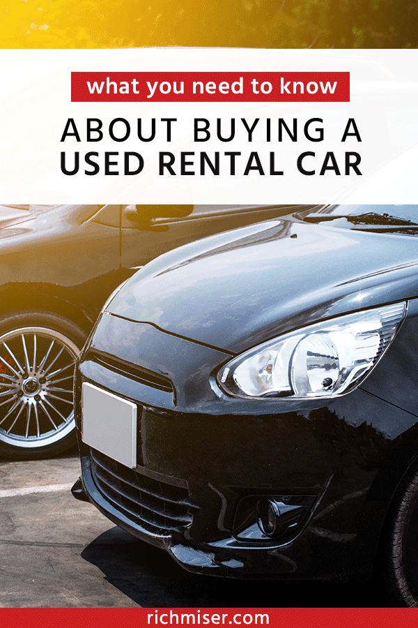 What you need to know about buying a used rental car