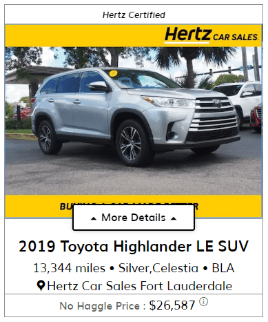 hertz car sales car