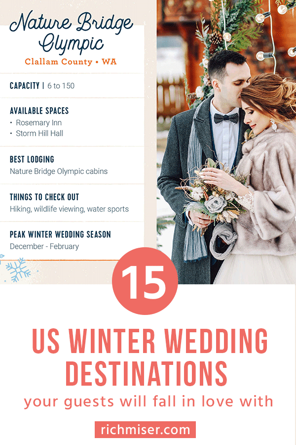 15 US Winter Wedding Destinations Your Guests Will Fall in Love With