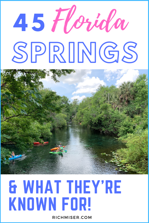45 Florida Springs & What They're Known For