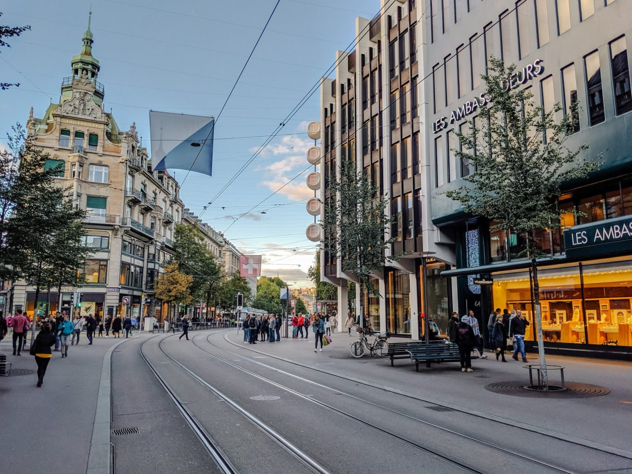 Bahnhofstrasse, one of the best places to visit in Switzerland
